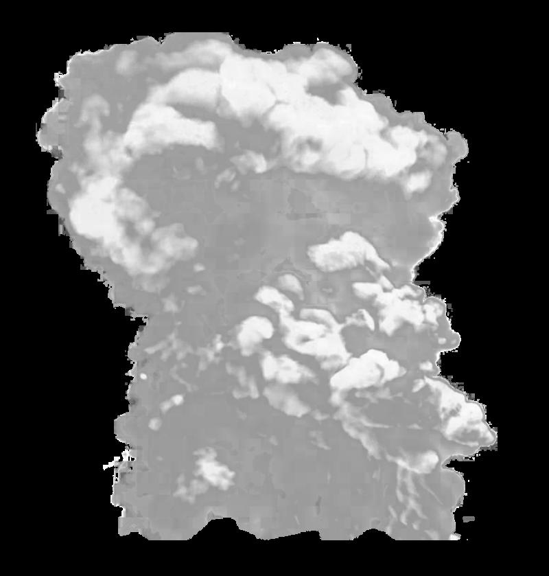 Big Grey Smoke PNG Image