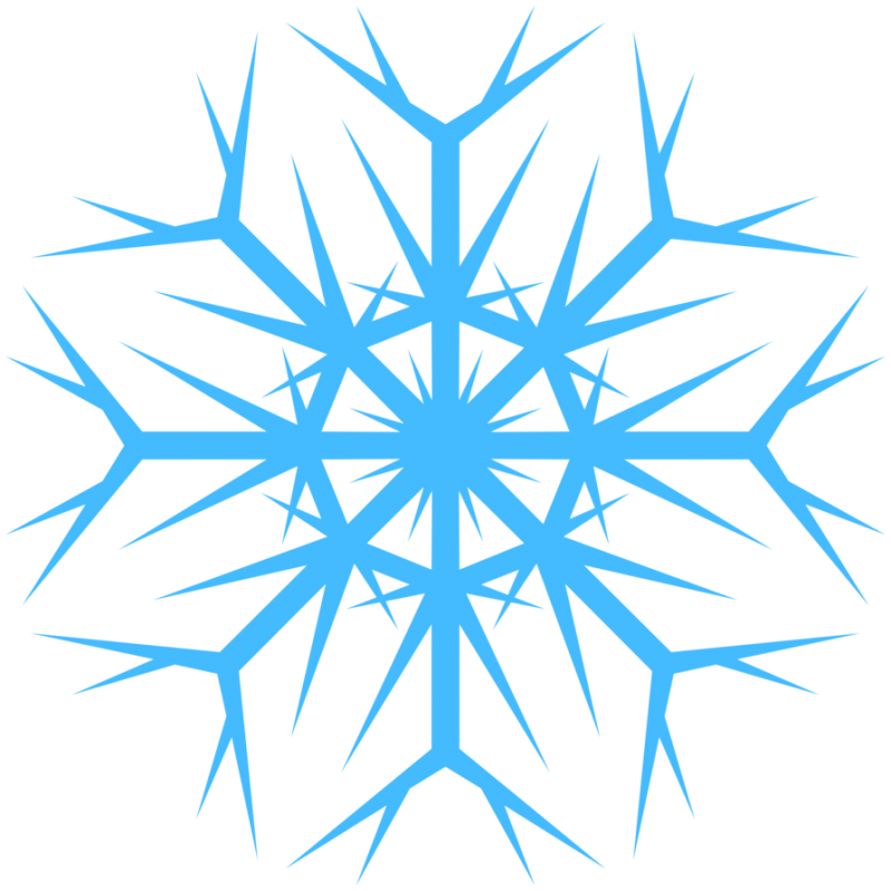 Icy Blue Snowflakes PNG Image - PurePNG | Free transparent ...