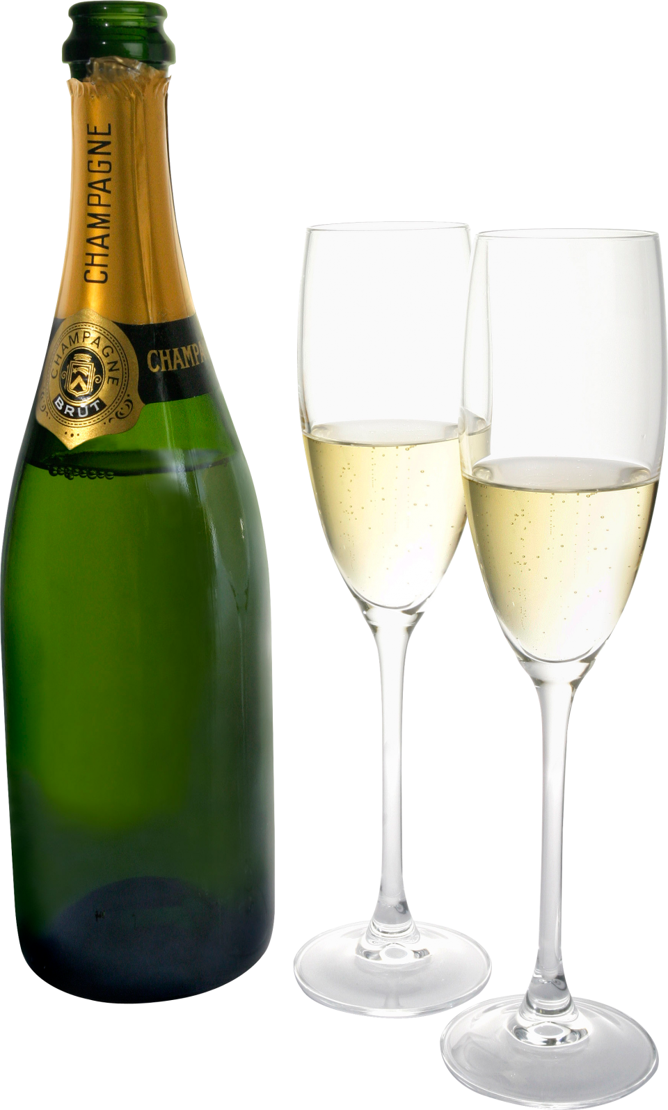 Sparkling Wine From A Bottle PNG Image