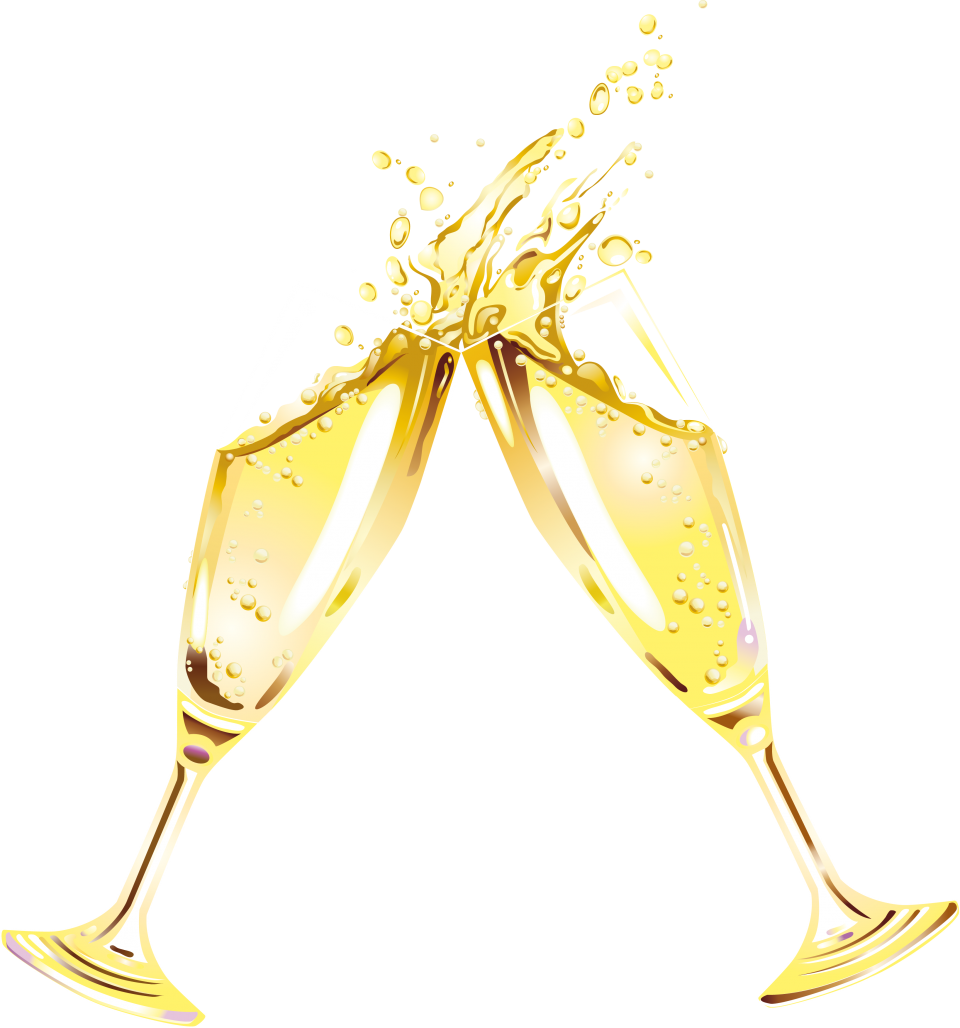 Sparkling Wine In A Glas PNG Image