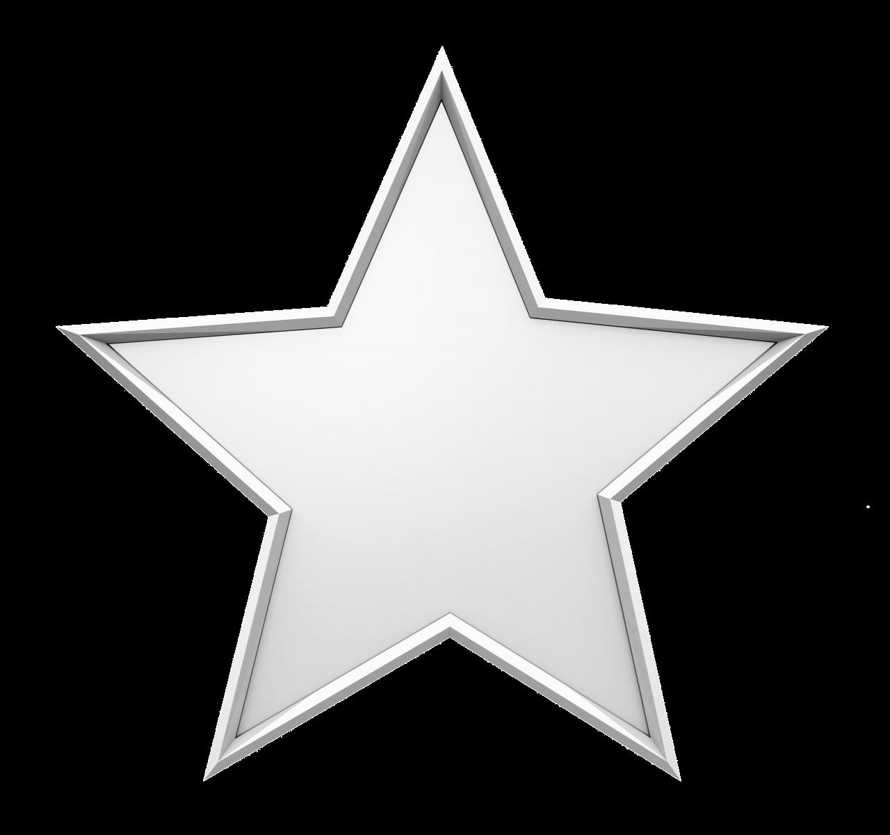 Silver Christmas Star PNG Image