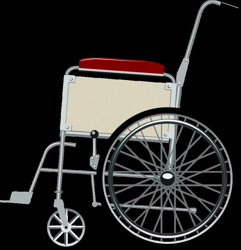 Steel Wheelchair PNG Image