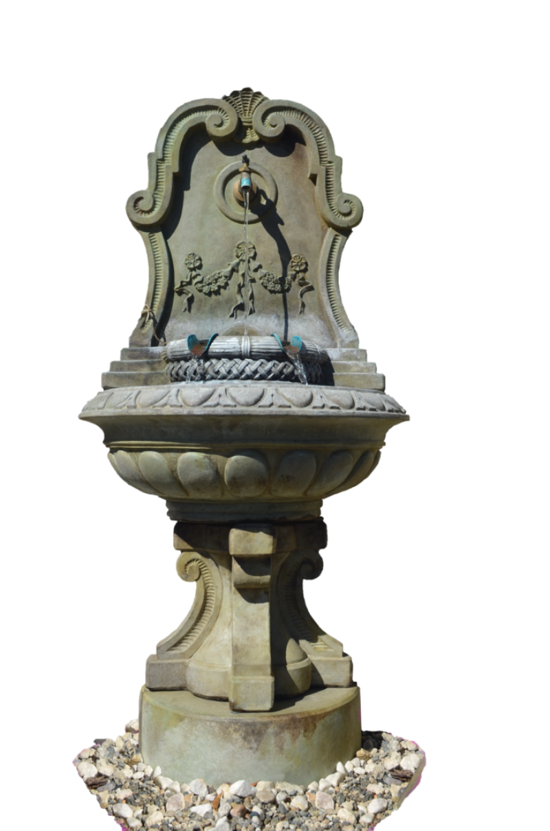 Stone Fountain PNG Image