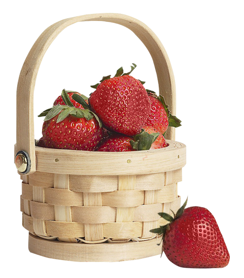 Strawberry in Basket PNG Image - PurePNG   Free ...