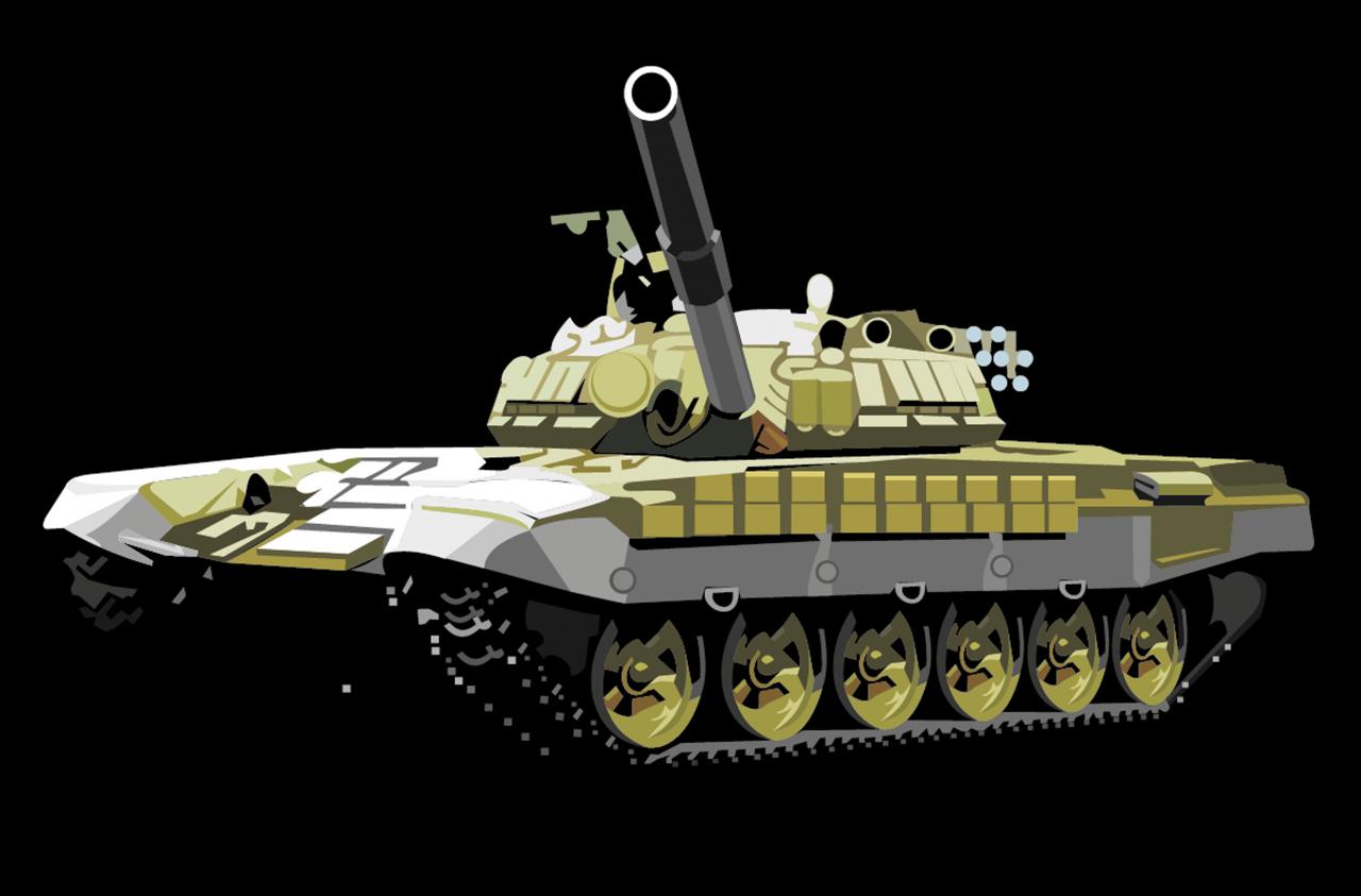 Stylized Tank PNG Image
