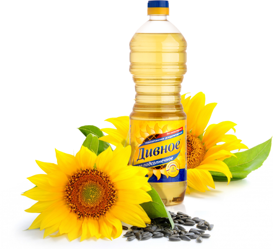 Russian Oil with Sunflower PNG Image