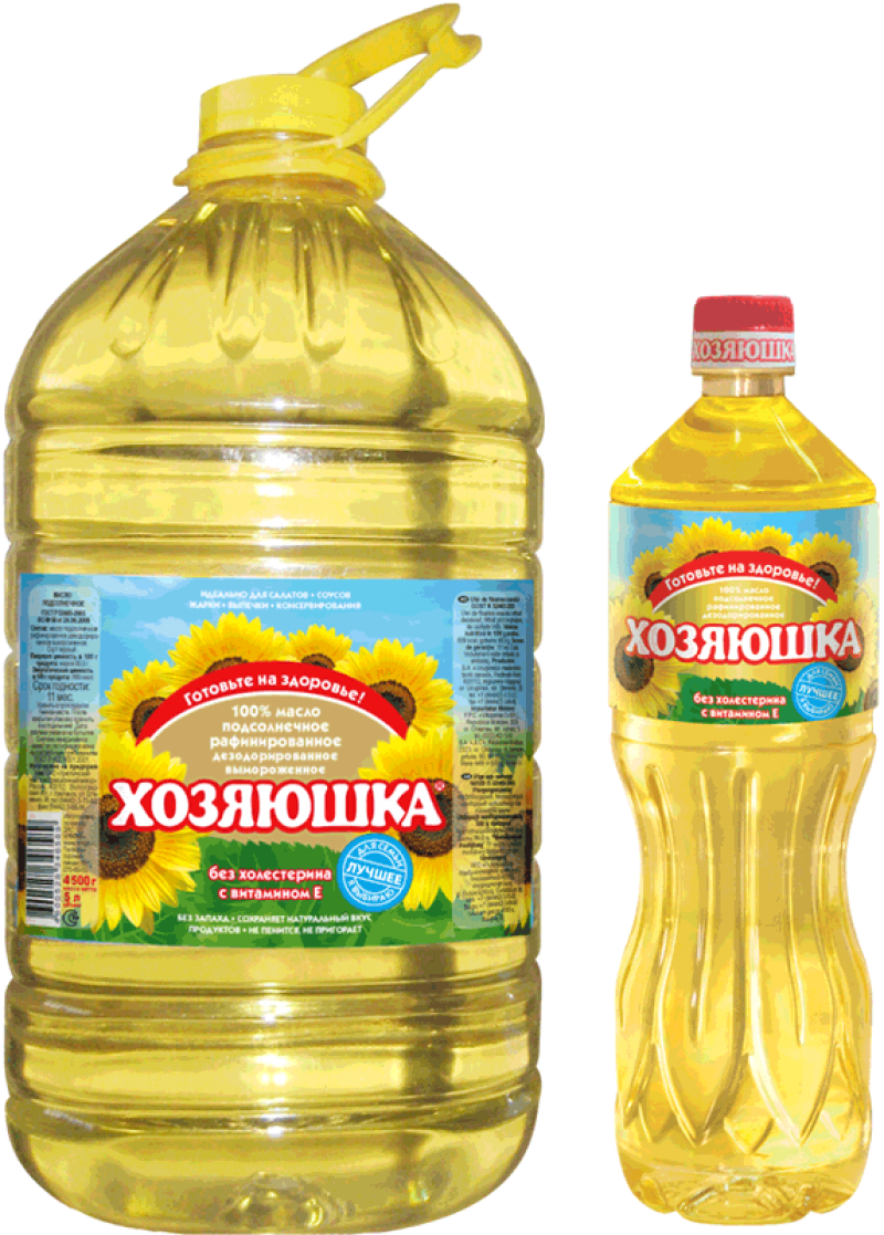 Russian Sunflower Oil PNG Image