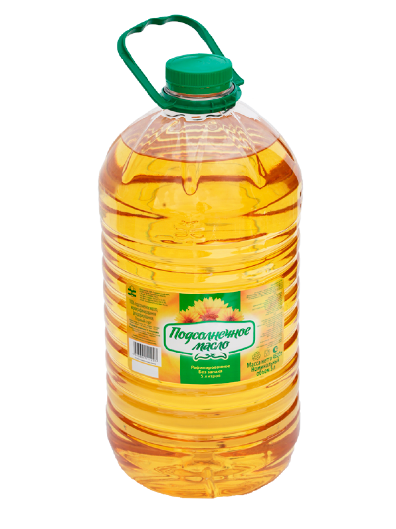 Sunflower Oil Canister PNG Image