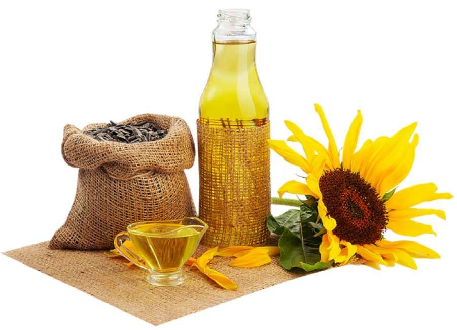 Sunflower Oil with herbs PNG Image
