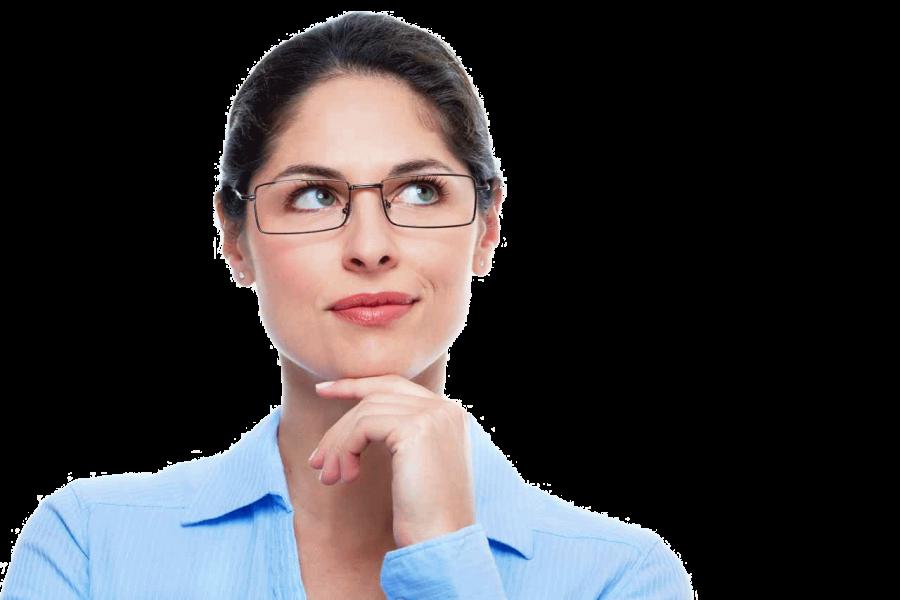 Thinking Woman PNG Image