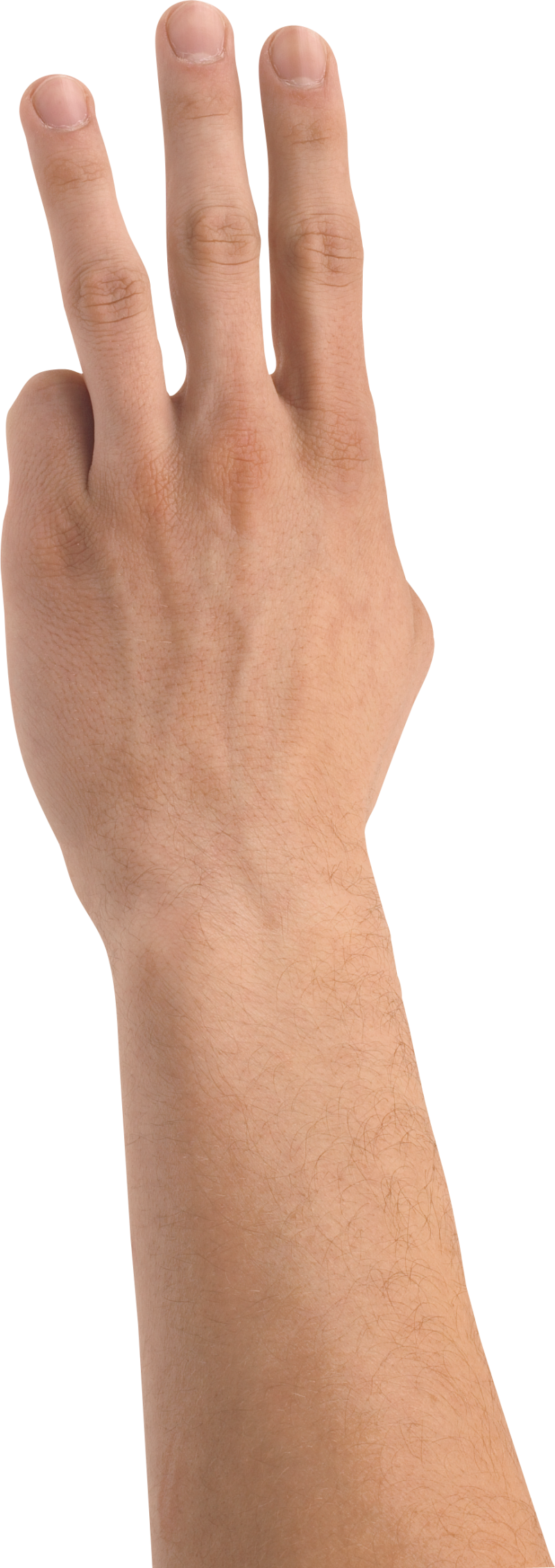 Three Finger Hand PNG Image