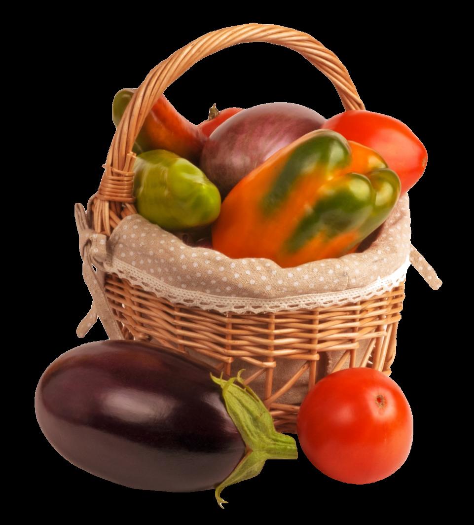 Vegetable Basket PNG Image