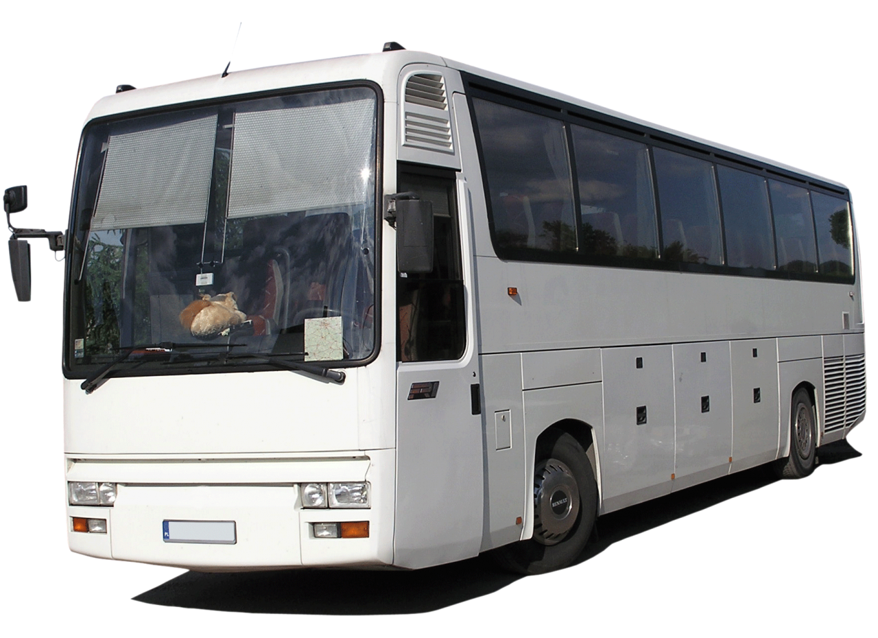 White Bus PNG Image
