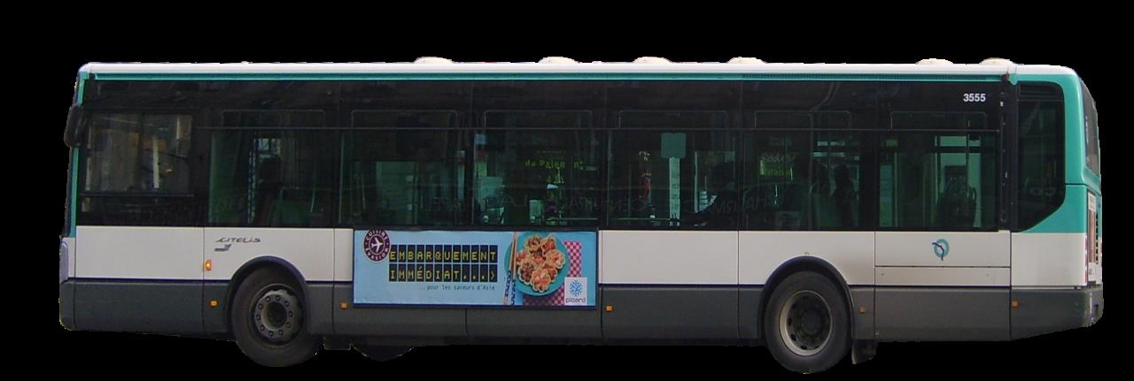 White Bus PNG Image