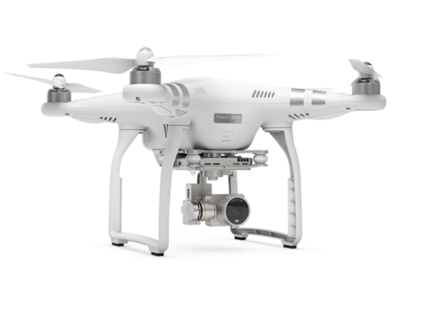White Flying Drone PNG Image