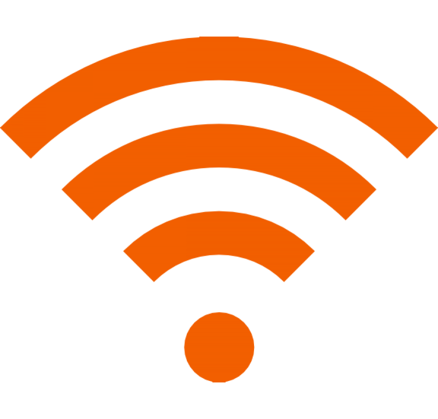 Wifi Icon Yellow PNG Image
