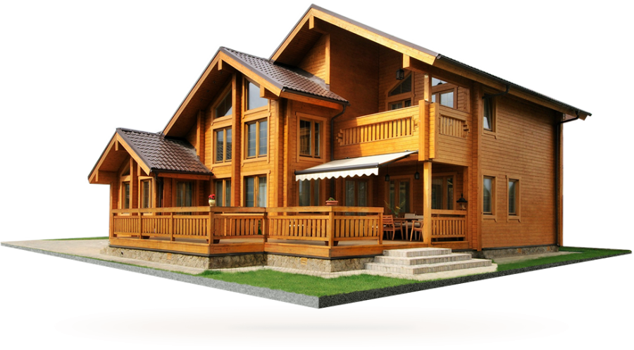 Wooden House PNG Image