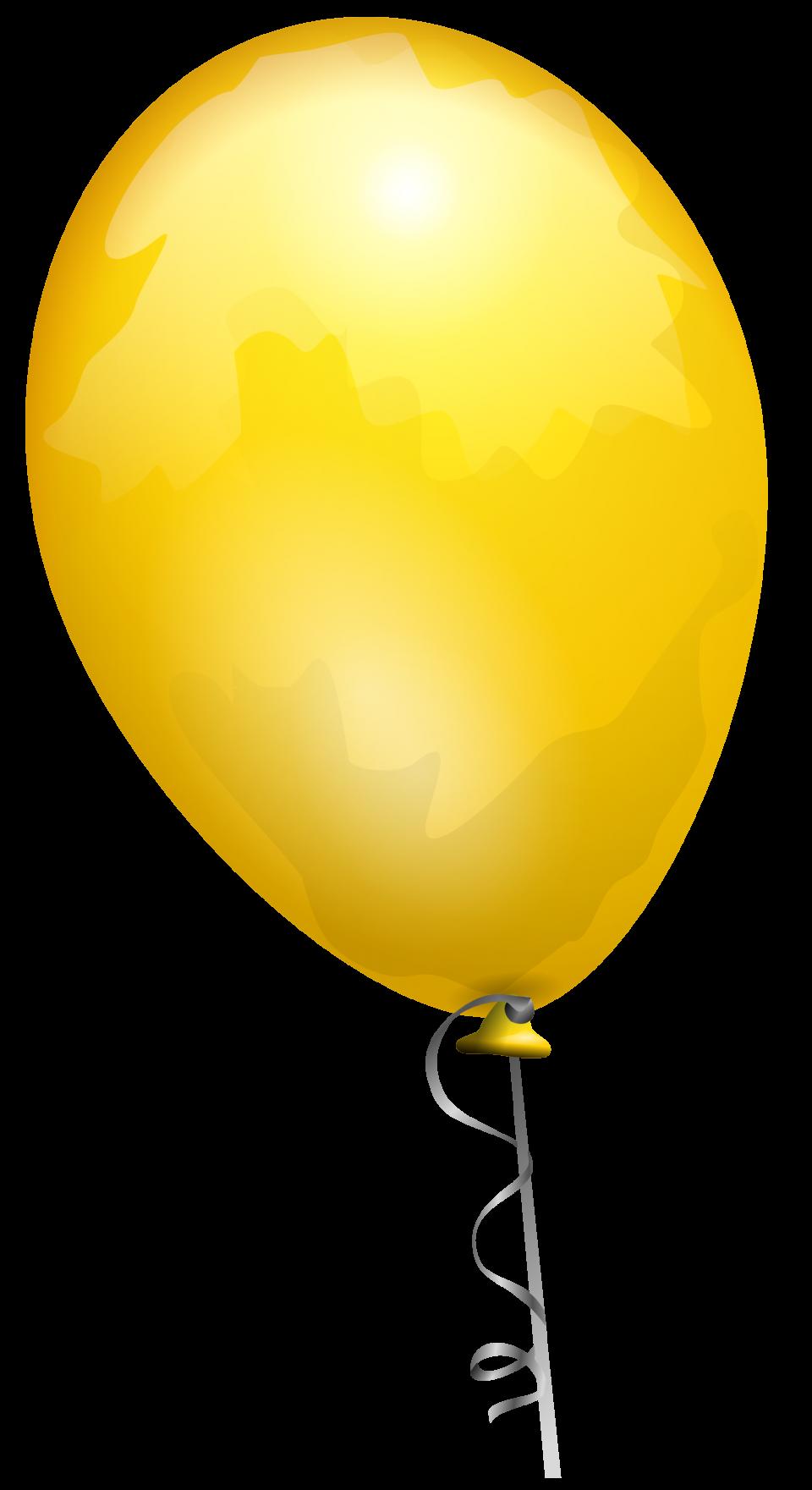 Yellow Party Ballon PNG Image