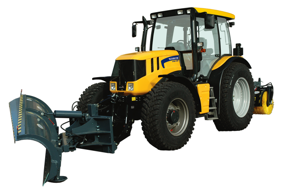 Yellow Tractor PNG Image