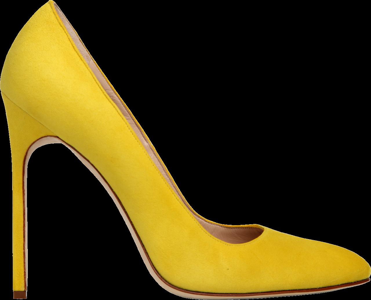 Yellow Women Shoe PNG Image