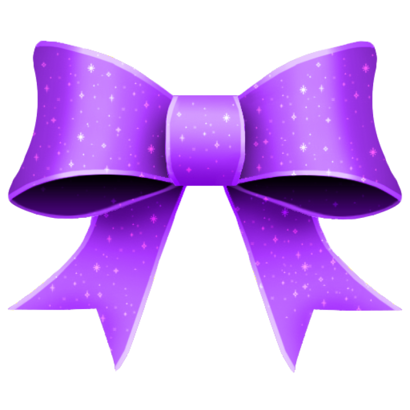 Purple Bow PNG Image