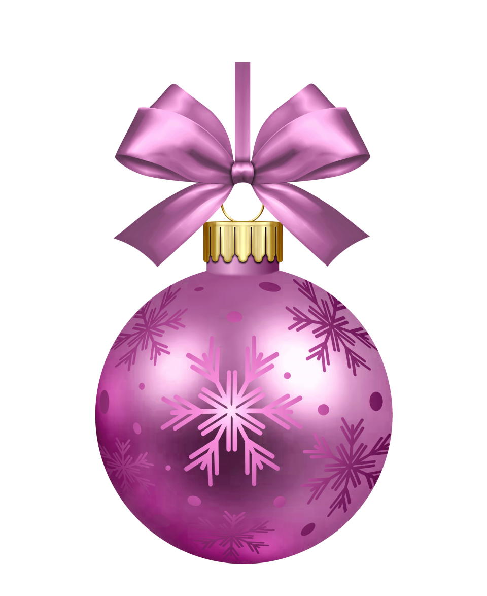 Purple Christmas Bauble PNG Image