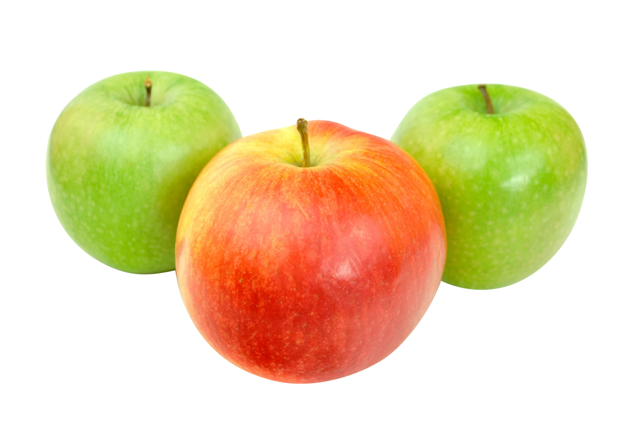 Red and Green Apple PNG Image