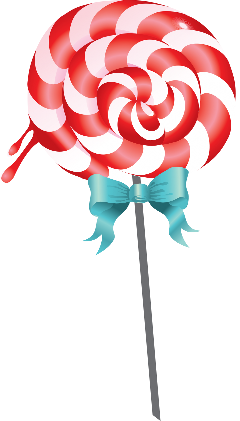 Red and White Lollipop PNG Image