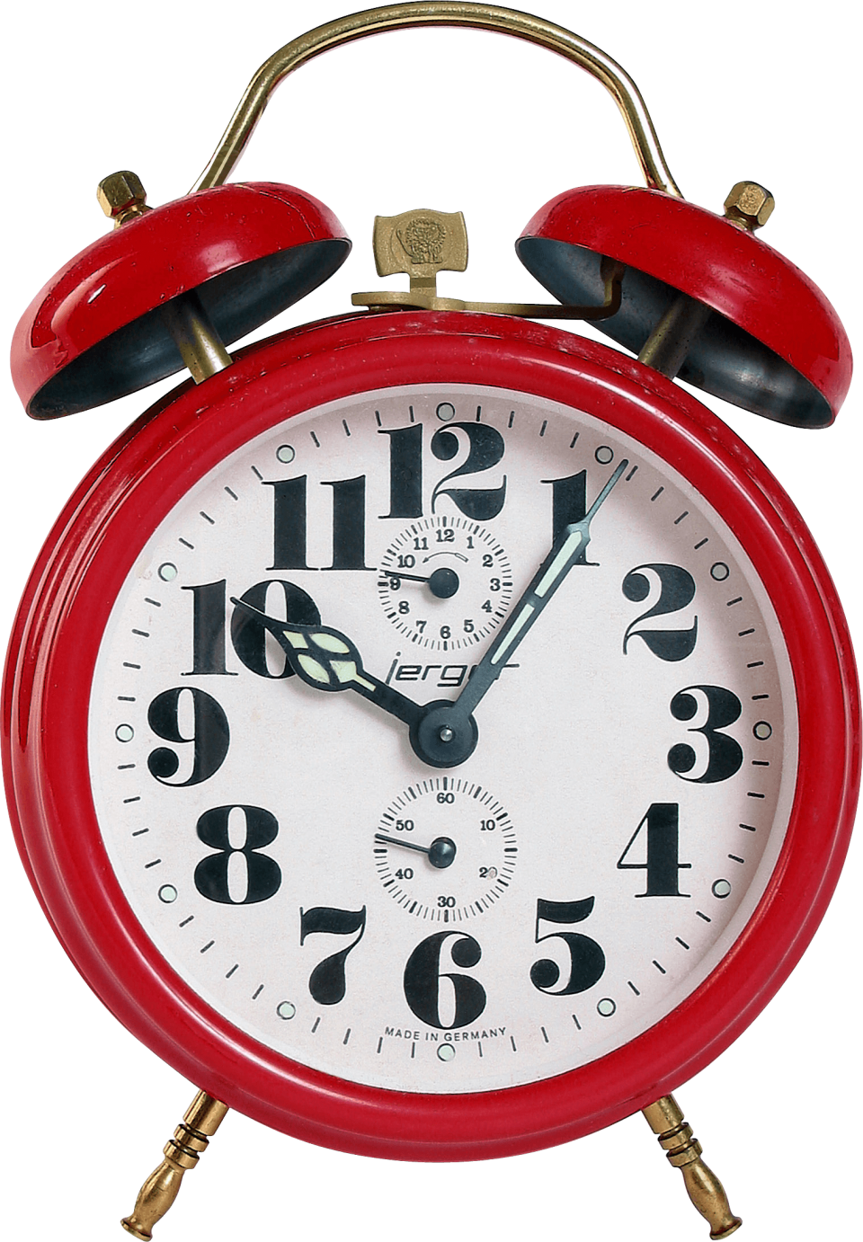 Red Clock PNG Image