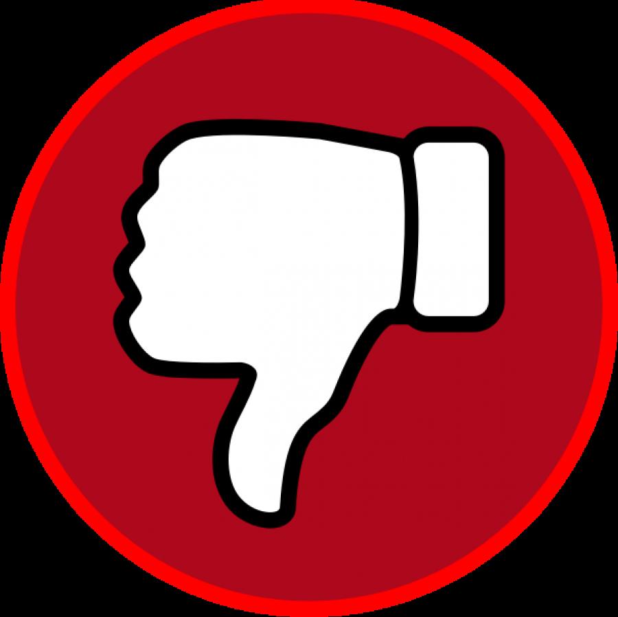 Red Dislike Symbol Emoji PNG Image