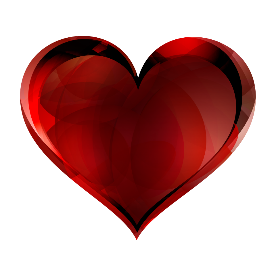 Red Glass Heart PNG Image