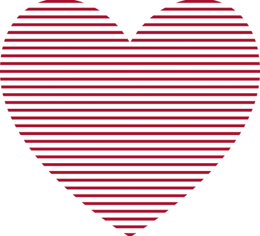 Red Heart Lines PNG Image