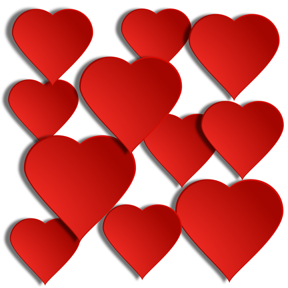 Red Hearts PNG Image