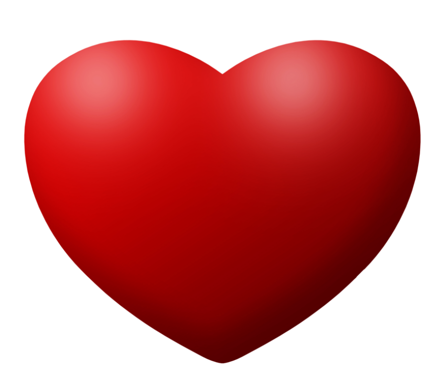 Red love Heart PNG Image