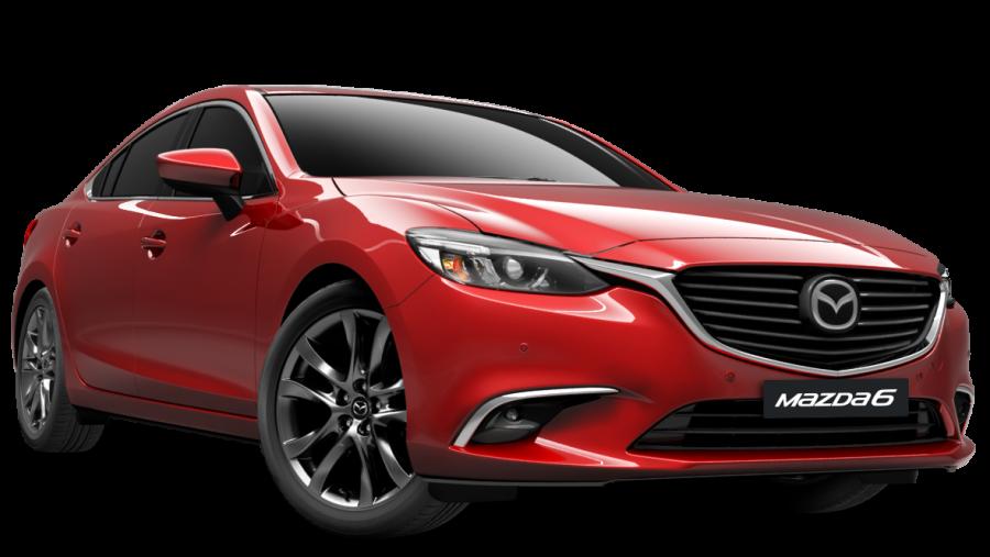 Red Mazda Car PNG Image
