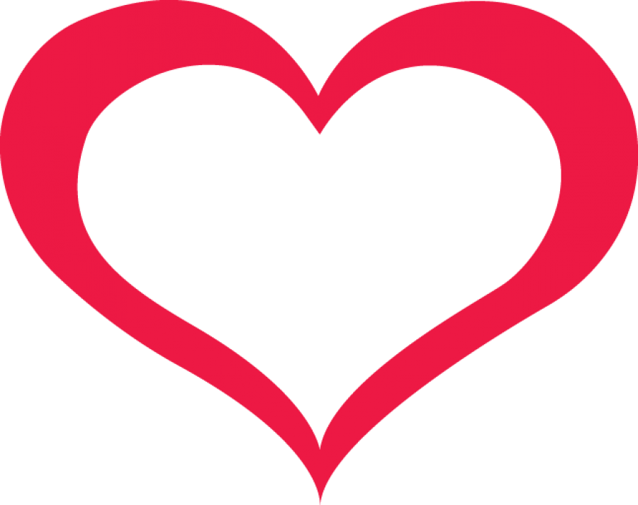 Red Outline Heart PNG Image