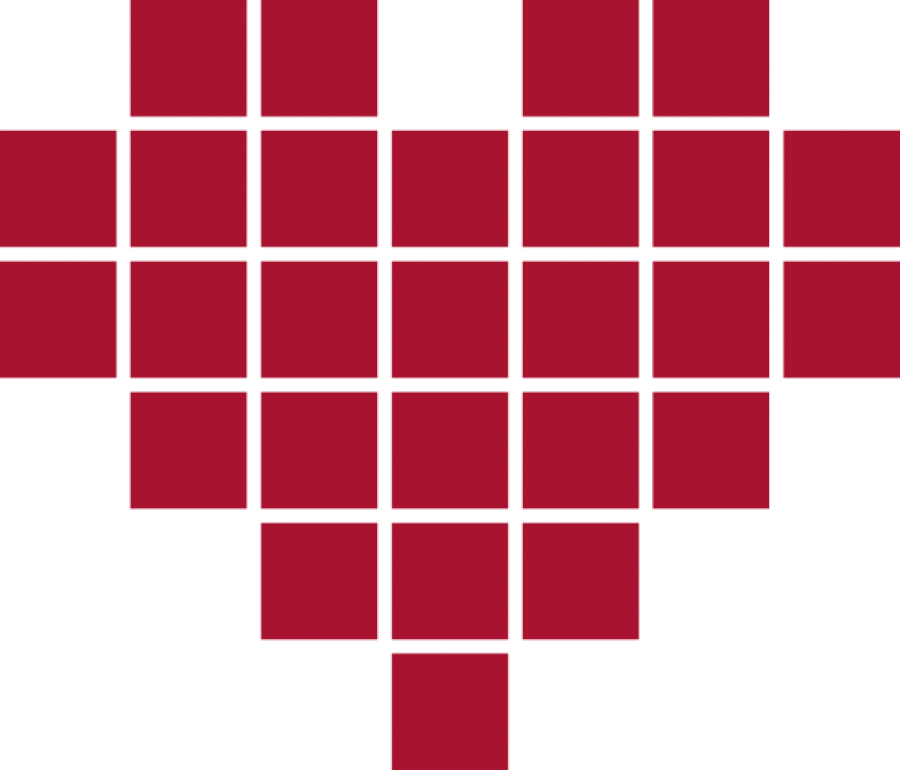 Red Pixeld Heart PNG Image