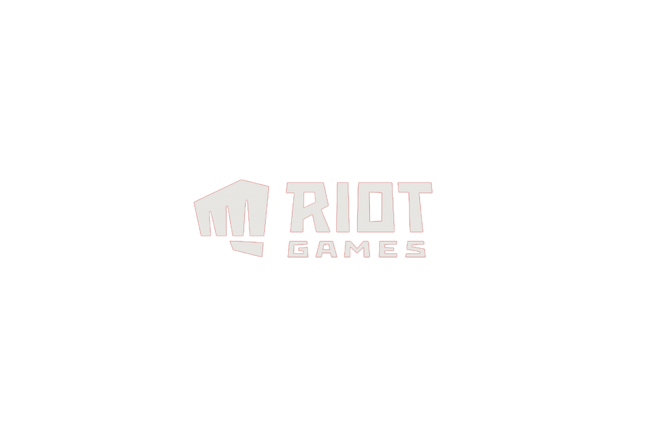 Riot Games New Logo with red outline PNG Image