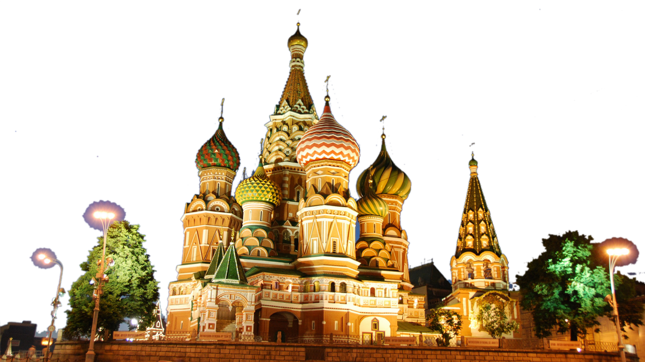 St. Basil's Cathederal - Russia PNG Image