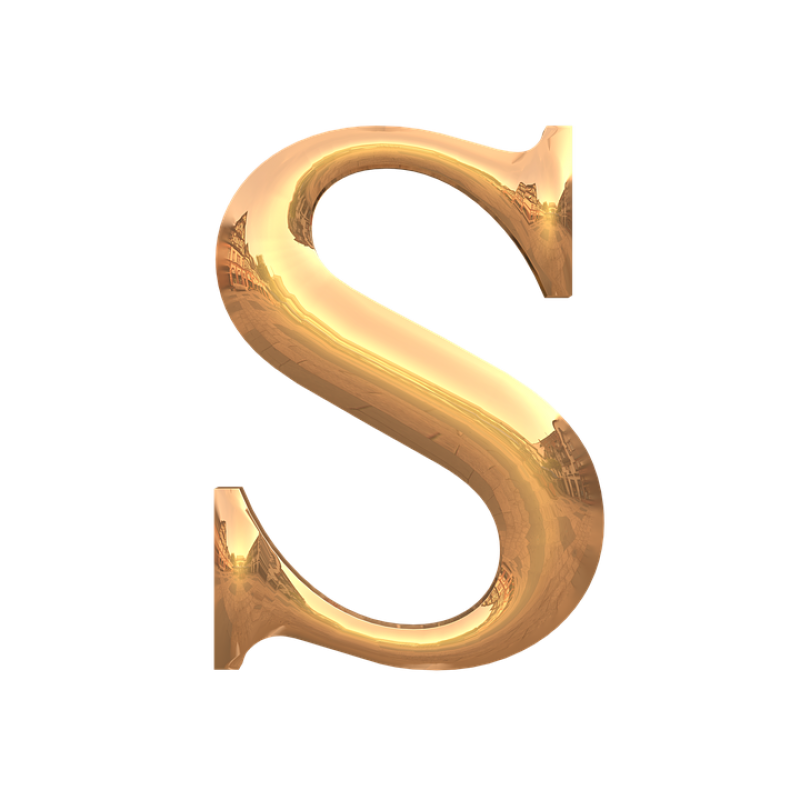 S Letter PNG Image