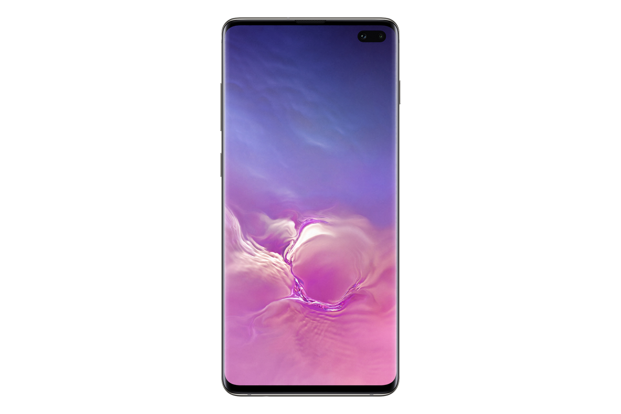 Samsung Galaxy S10 Ceramic Black Front PNG Image