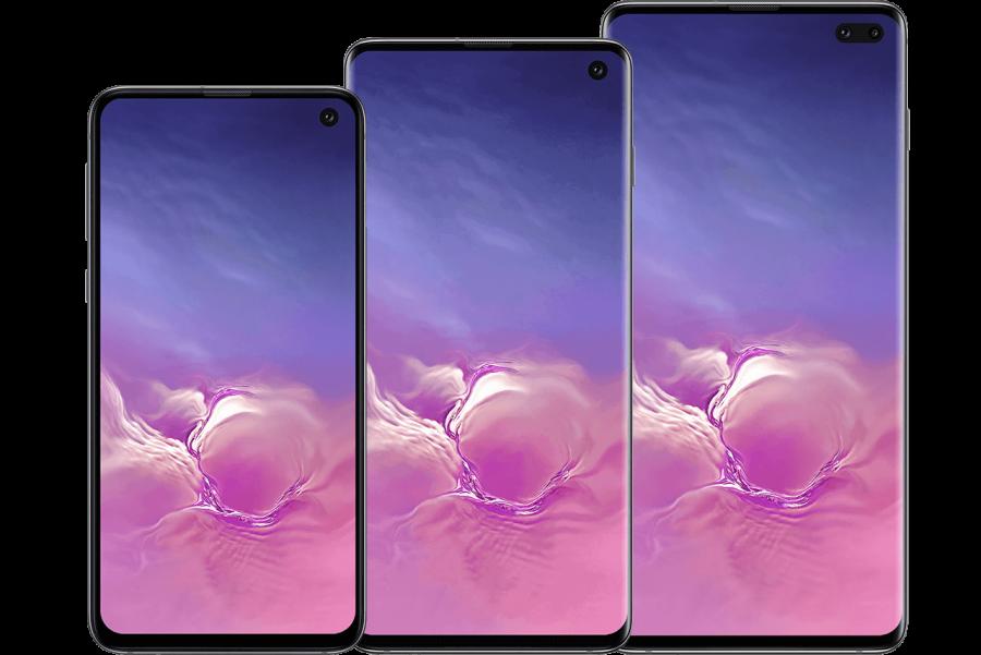 Samsung Galaxy S10 Models PNG Image