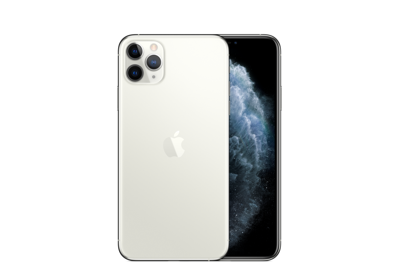 Smartphone iPhone 11 Pro Max Silver PNG Image