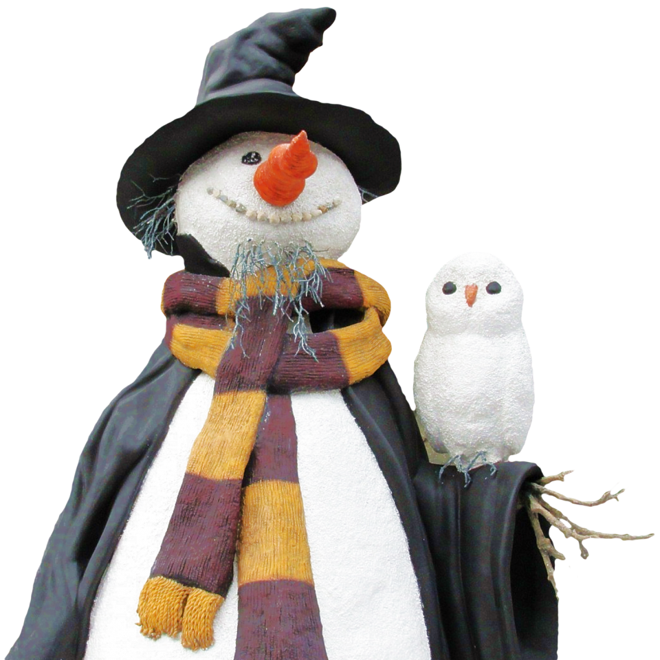 Snowman with Bird PNG Image