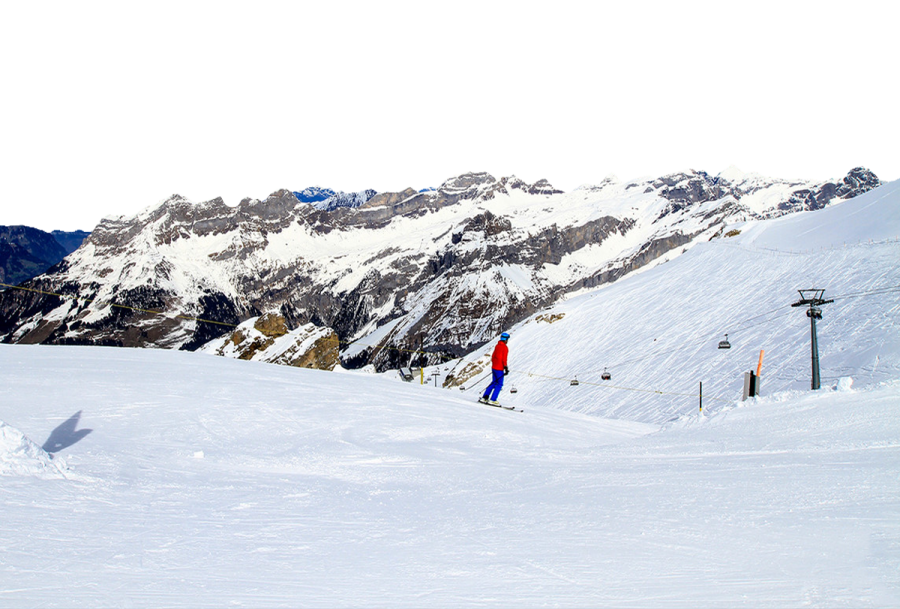 Ice-skiing - Switzerland PNG Image