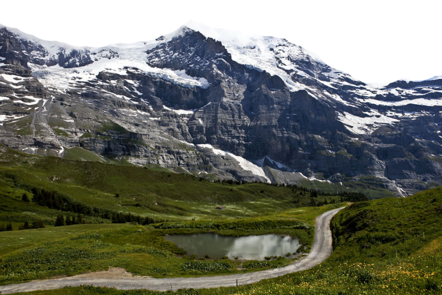 Snow Covered Swiss Alps PNG Image