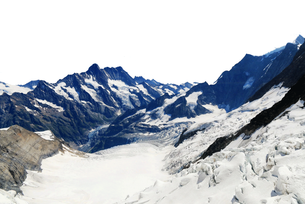 Snowy Alps - Switzerland  PNG Image