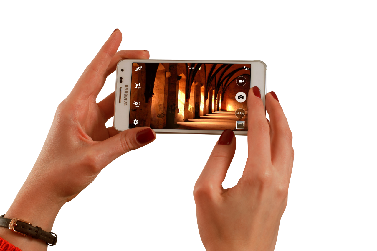 Taking picture from smartphone PNG Image