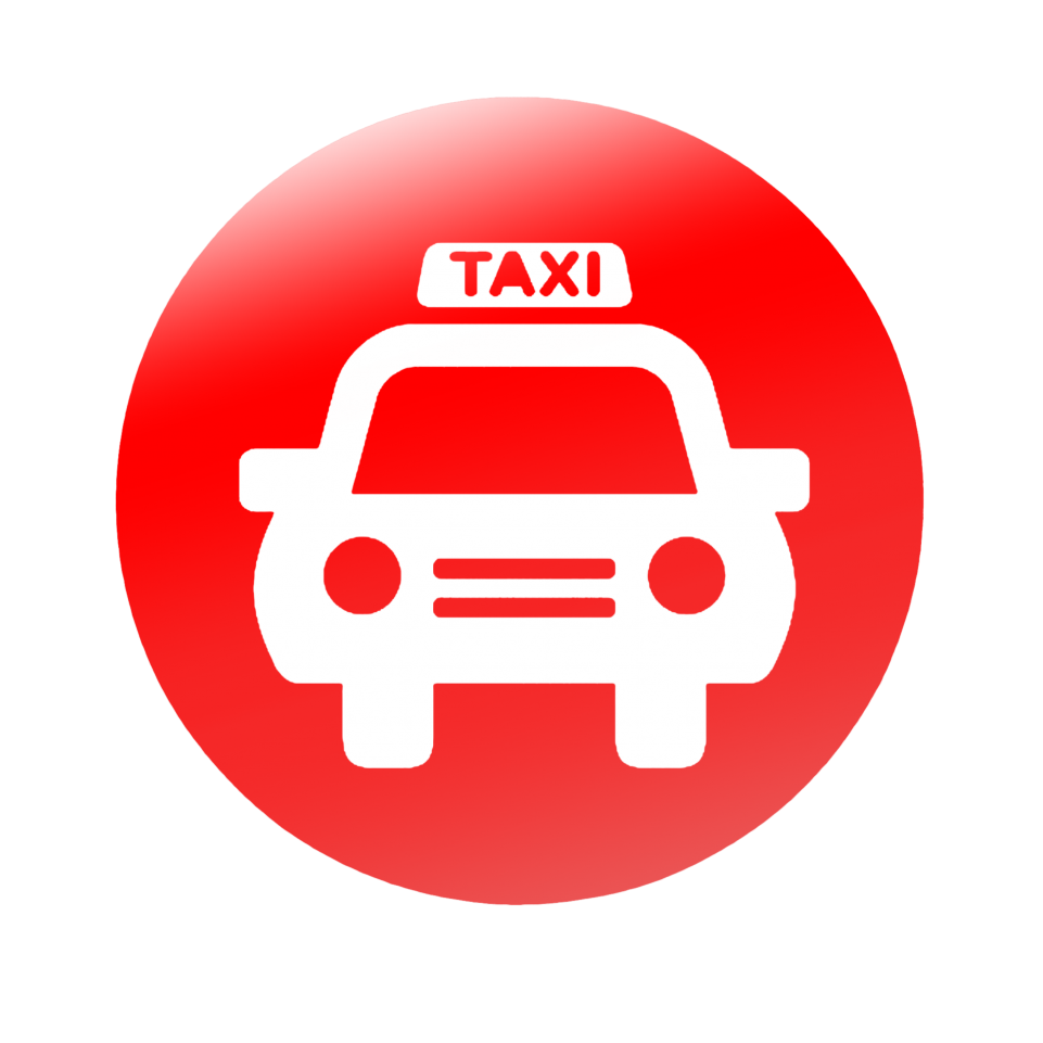 Taxi Circle Icon PNG Image