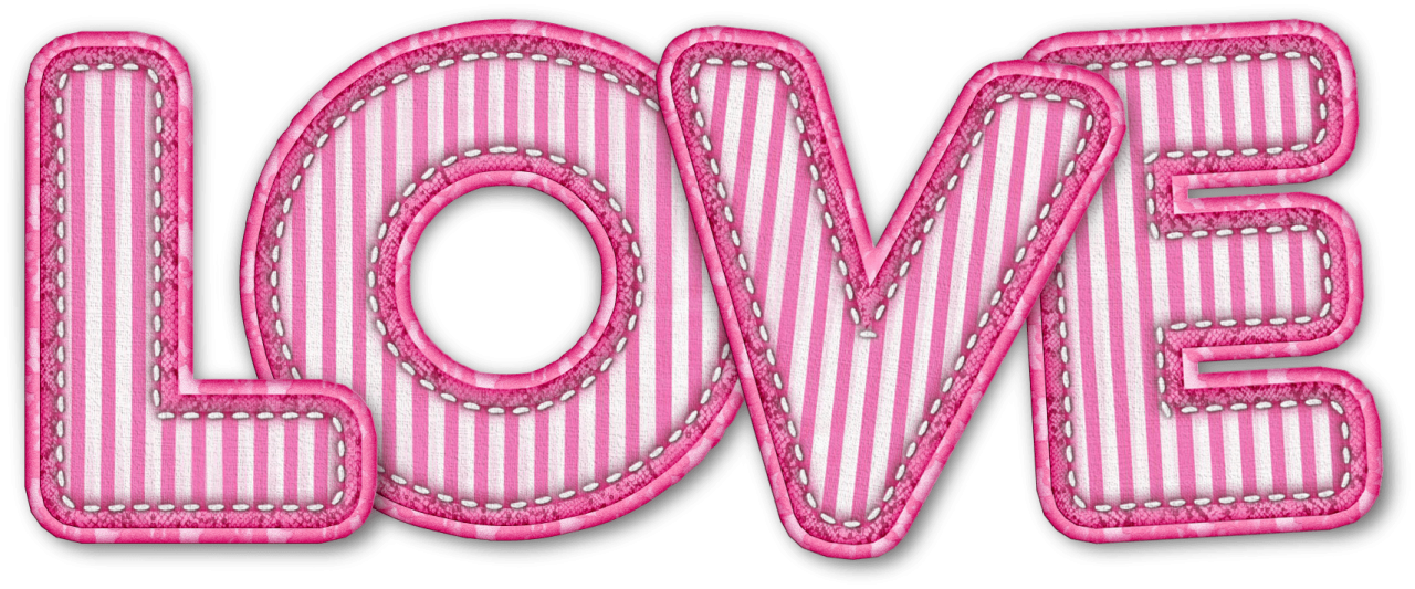 Textured Love Pink PNG Image